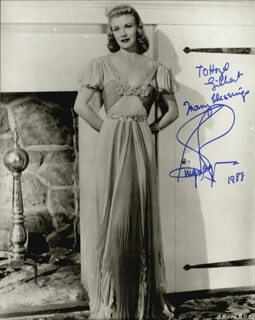 GINGER ROGERS - AUTOGRAPHED INSCRIBED PHOTOGRAPH 1988