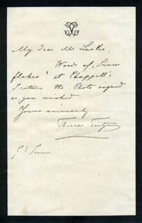 THERESE TIETJENS - AUTOGRAPH LETTER SIGNED 6/2