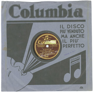 CLAUDIA MUZIO - RECORD SIGNED