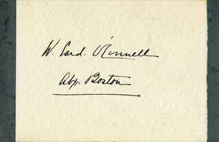 Autographs: CARDINAL W. HENRY O'CONNELL - SIGNATURE(S)