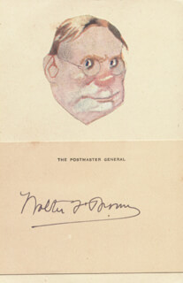 WALTER F. BROWN - AUTOGRAPH
