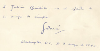 Autographs: GUSTAVO DURAN - INSCRIBED BOOK SIGNED 05/30/1942