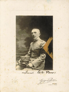 GENERAL CARLO PORRO - PHOTOGRAPH MOUNT SIGNED