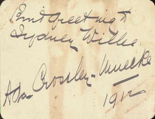 ADA CROSSLEY-MUECKE - INSCRIBED SIGNATURE 1912