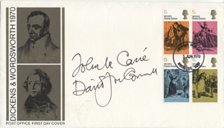 JOHN LE CARRE - FIRST DAY COVER SIGNED