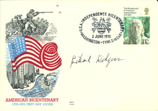 RICHARD RODGERS - FIRST DAY COVER SIGNED