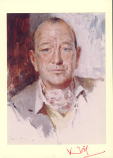 SIR NOEL COWARD - AUTOGRAPH