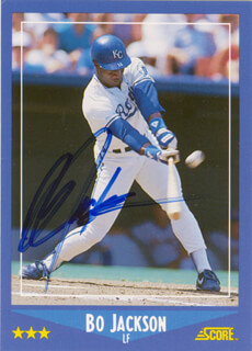 Autographs: BO JACKSON - TRADING/SPORTS CARD SIGNED