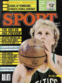 Autographs: LARRY BIRD - MAGAZINE COVER SIGNED