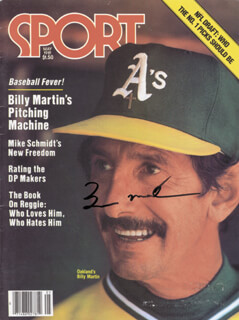 BILLY MARTIN - MAGAZINE SIGNED  - HFSID 112631
