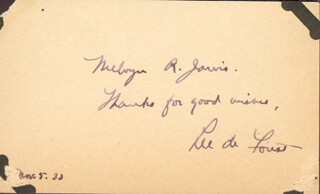 LEE DE FOREST - AUTOGRAPH NOTE SIGNED 11/05/1933  - HFSID 112640