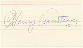 Autographs: HENRY HOMICIDE HANK ARMSTRONG - SIGNATURE(S)