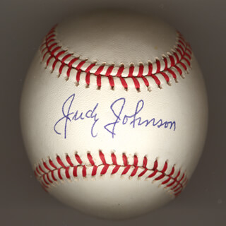 Autographs: JUDY JOHNSON - BASEBALL SIGNED