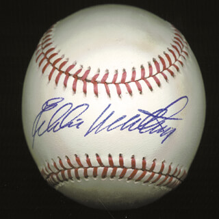 EDDIE MATHEWS - AUTOGRAPHED SIGNED BASEBALL