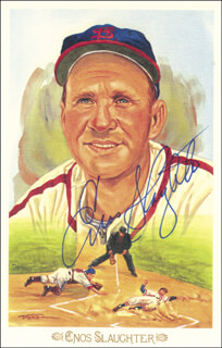 ENOS SLAUGHTER - PEREZ-STEELE POSTCARD SIGNED