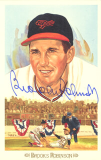 BROOKS ROBINSON - PEREZ-STEELE POSTCARD SIGNED