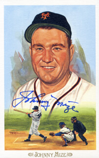 JOHNNY MIZE - PEREZ-STEELE POSTCARD SIGNED