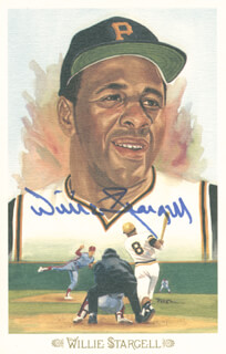 WILLIE STARGELL - PEREZ-STEELE POSTCARD SIGNED