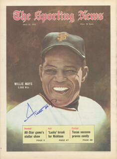 WILLIE SAY HEY KID MAYS - MAGAZINE SIGNED