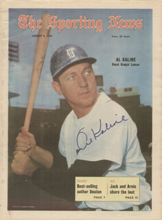 AL MR. TIGER KALINE - MAGAZINE COVER SIGNED