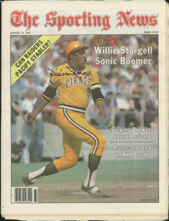 WILLIE STARGELL - MAGAZINE COVER SIGNED  - HFSID 113823