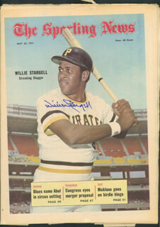 WILLIE STARGELL - MAGAZINE COVER SIGNED  - HFSID 113824