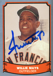 WILLIE SAY HEY KID MAYS - TRADING/SPORTS CARD SIGNED
