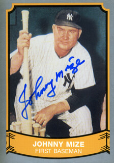 JOHNNY MIZE - TRADING/SPORTS CARD SIGNED