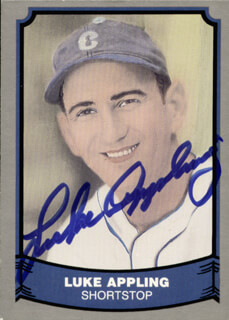 Autographs: LUKE APPLING - TRADING/SPORTS CARD SIGNED