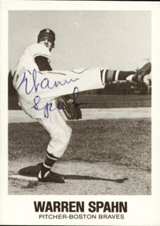 WARREN SPAHN - TRADING/SPORTS CARD SIGNED