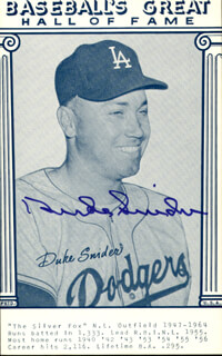 DUKE SNIDER - TRADING/SPORTS CARD SIGNED