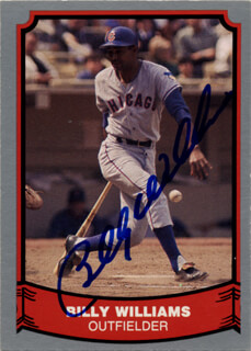BILLY WILLIAMS - TRADING/SPORTS CARD SIGNED