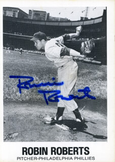 ROBIN ROBERTS - TRADING/SPORTS CARD SIGNED