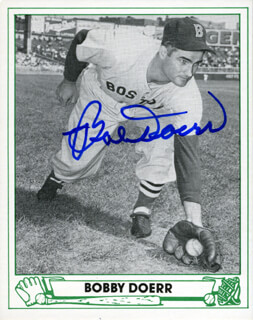 BOBBY DOERR - TRADING/SPORTS CARD SIGNED