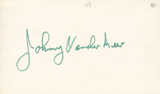JOHNNY DOUBLE NO-HIT VANDER MEER - AUTOGRAPH