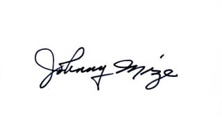 JOHNNY MIZE - AUTOGRAPH