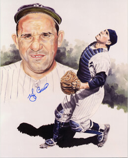 YOGI BERRA - ILLUSTRATION SIGNED