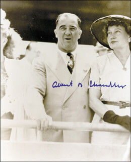 ALBERT B. HAPPY CHANDLER - AUTOGRAPHED SIGNED PHOTOGRAPH