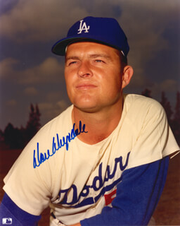 DON DRYSDALE - AUTOGRAPHED SIGNED PHOTOGRAPH