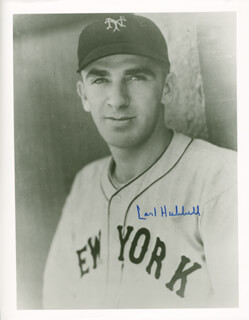 CARL HUBBELL - AUTOGRAPHED SIGNED PHOTOGRAPH  - HFSID 114448