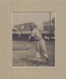 BUCK LEONARD - AUTOGRAPHED SIGNED PHOTOGRAPH