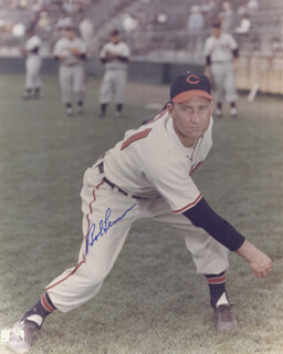 BOB LEMON - AUTOGRAPHED SIGNED PHOTOGRAPH