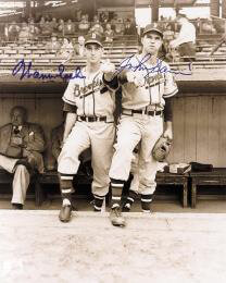 WARREN SPAHN - AUTOGRAPHED SIGNED PHOTOGRAPH CO-SIGNED BY: JOHNNY SAIN