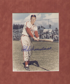 RED SCHOENDIENST - AUTOGRAPHED SIGNED PHOTOGRAPH