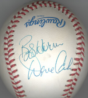 FERGUSON JENKINS - AUTOGRAPHED SIGNED BASEBALL CO-SIGNED BY: BOB HORNER, DAVE CASH