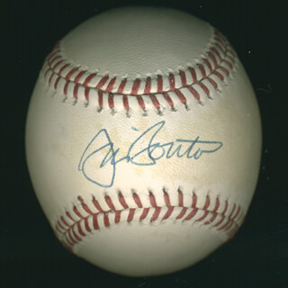 Autographs: JIM BOUTON - BASEBALL SIGNED CO-SIGNED BY: BERT CAMPANERIS