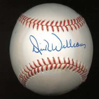 DICK WILLIAMS - AUTOGRAPHED SIGNED BASEBALL