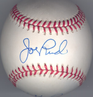 MICKEY RIVERS - AUTOGRAPHED SIGNED BASEBALL CO-SIGNED BY: JOE RUDI