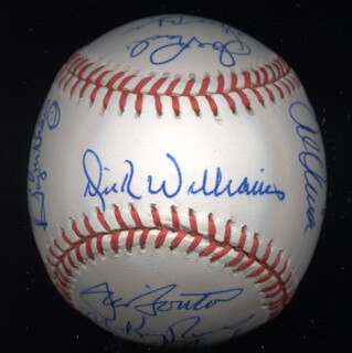KENT TEKE TEKULVE - AUTOGRAPHED SIGNED BASEBALL CO-SIGNED BY: JOE RUDI, DICK WILLIAMS, BOBBY BONDS, VIDA BLUE, AL MR. SCOOP OLIVER, BILL MADLOCK JR., MICKEY RIVERS, BERT CAMPANERIS, DAVE CASH, TUG (FRANK) MCGRAW, STEVE GARVEY, BILL CAMPBELL, JIM BOUTON, FERGUSON JENKINS