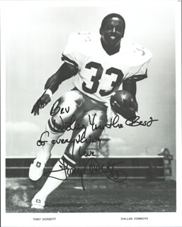 TONY DORSETT - AUTOGRAPHED INSCRIBED PHOTOGRAPH